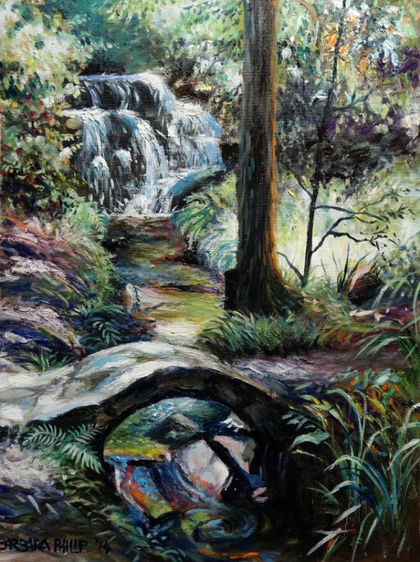 Hogsback. oil painting, Swallowtail Falls