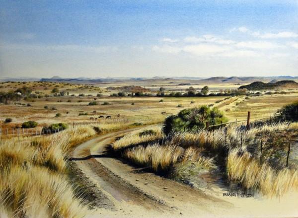 Karoo landscape, Grootevallei