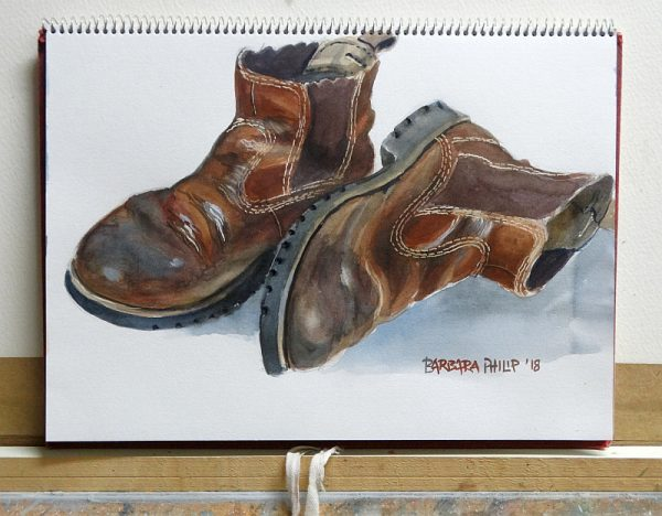 Old Farm Boots. Sketchbook