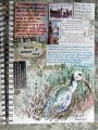 Hadeda in the garden, journal page