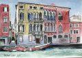 Venice. Italy. Palazzo Cendon, Cannaregio Canal,